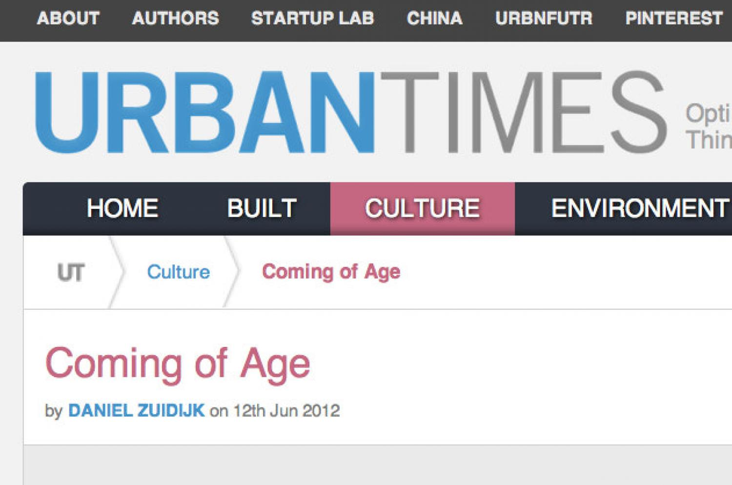 Coming of Age Urban Times logo