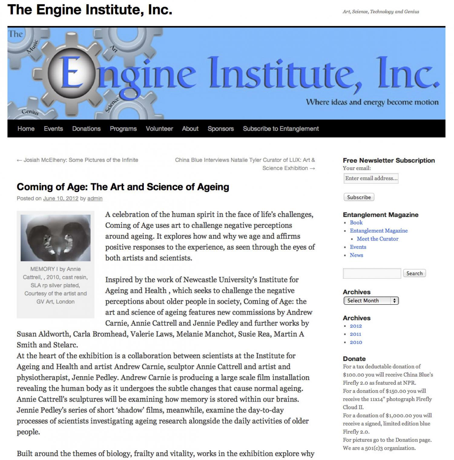 Coming of Age Review Engine Institute
