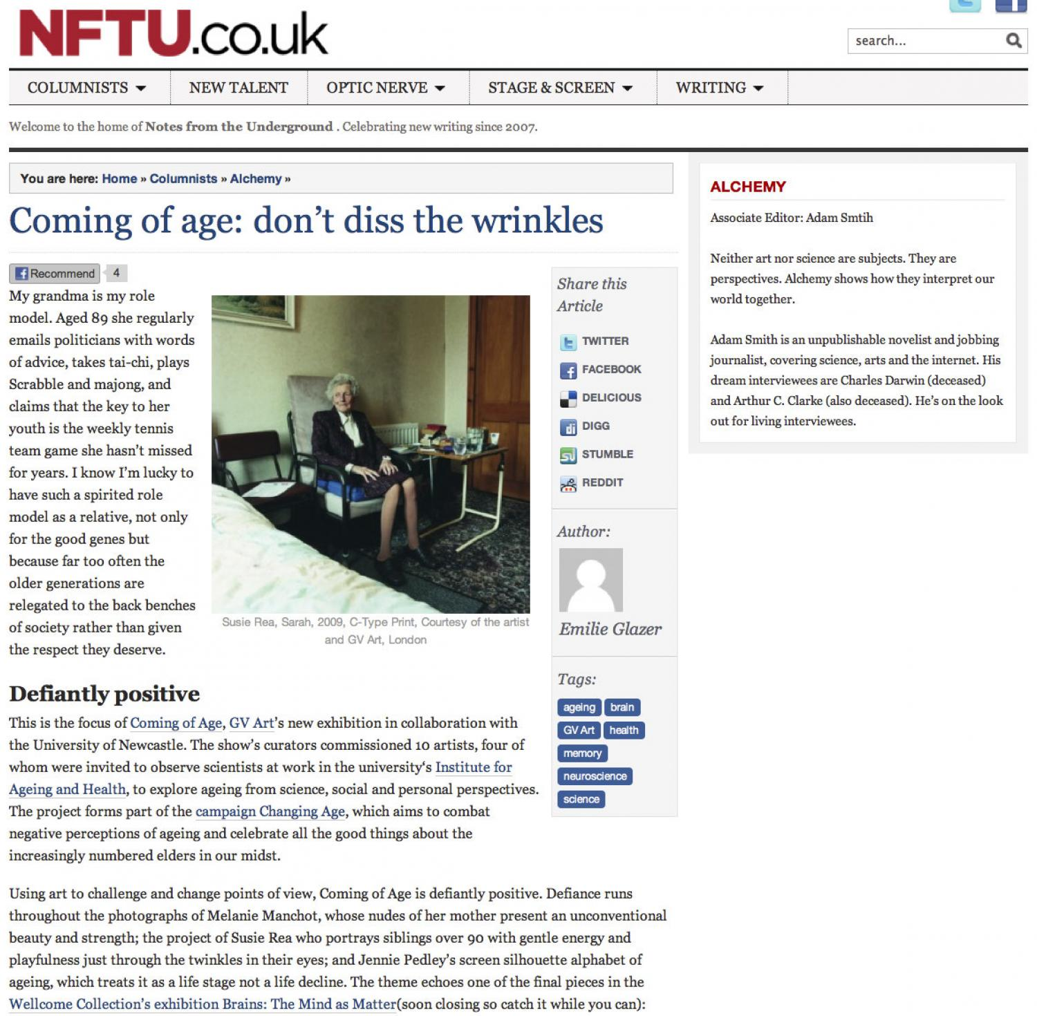 Coming of Age Review NFTU